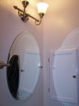 Mirror and light fixture - the mirror was an after-thought